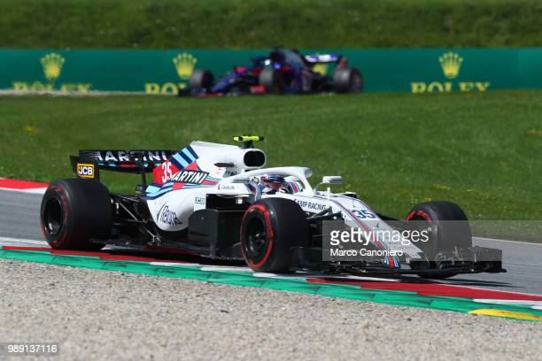 Sergey Sirotkin of Russia and Williams Martini on track during Formula One Grand Prix of Austria