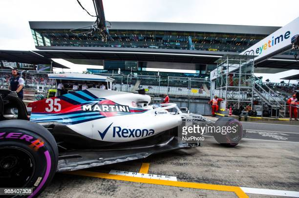 Sergey Sirotkin of Russia and Williams Martini Racing driver goes during the qualification at Austrian Formula One Grand Prix on Jun 30 2018 in Red...