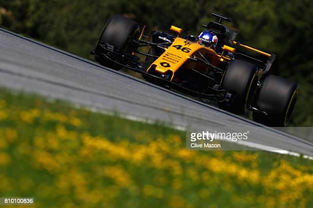 Sergey Sirotkin of Russia driving the Renault Sport Formula One Team Renault RS17 on track during practice for the Formula One Grand Prix of Austria...
