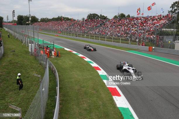 Sergey Sirotkin of Russia driving the Williams Martini Racing FW41 Mercedes on track during the Formula One Grand Prix of Italy at Autodromo di Monza...
