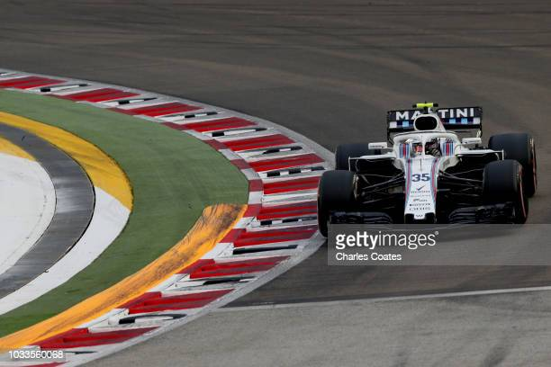 Sergey Sirotkin of Russia driving the Williams Martini Racing FW41 Mercedes on track during final practice for the Formula One Grand Prix of...