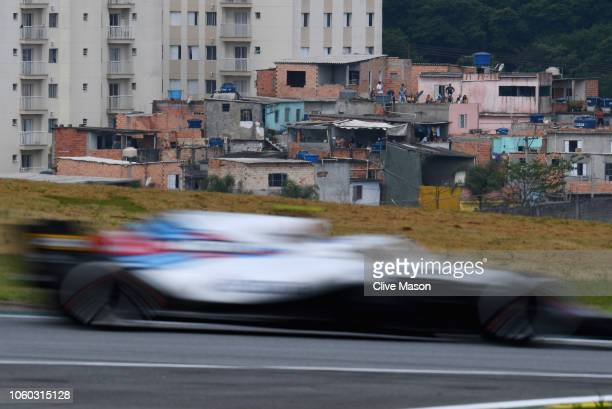 Sergey Sirotkin of Russia driving the Williams Martini Racing FW41 Mercedes on track during the Formula One Grand Prix of Brazil at Autodromo Jose...