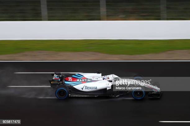 Sergey Sirotkin of Russia driving the Williams Martini Racing FW41 Mercedes on track during day four of F1 Winter Testing.
