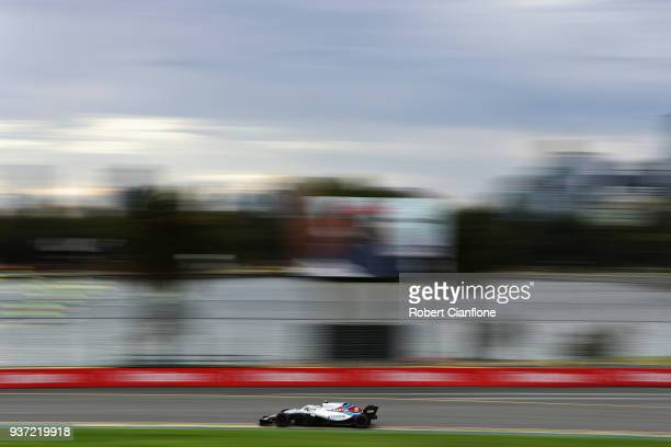Sergey Sirotkin of Russia driving the Williams Martini Racing FW41 Mercedes on track during qualifying for the Australian Formula One Grand Prix at...