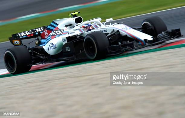 Sergey Sirotkin of Russia driving the Williams Martini Racing FW41 Mercedes during the Spanish Formula One Grand Prix at Circuit de Catalunya on May...