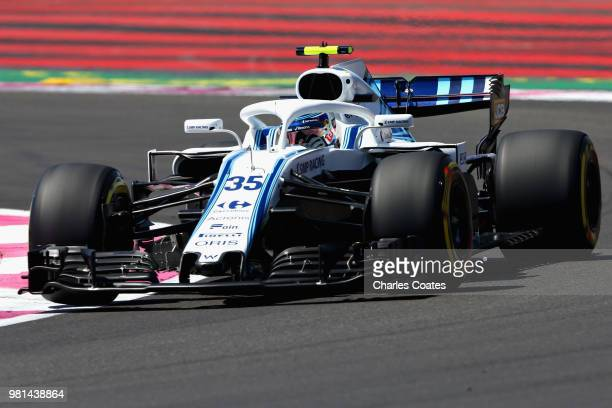 Sergey Sirotkin of Russia driving the Williams Martini Racing FW41 Mercedes on track during practice for the Formula One Grand Prix of France at...