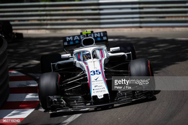 Sergey Sirotkin of Russian and Williams during qualifying for the Monaco Formula One Grand Prix at Circuit de Monaco on May 26 2018 in MonteCarlo...