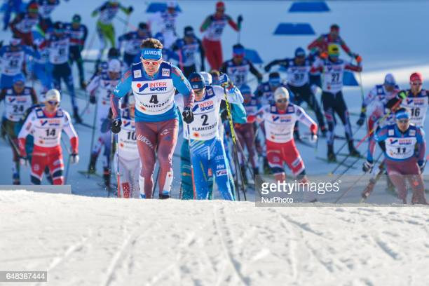 Sergey Ustiugov from Russia during Men crosscountry 50 km Mass Start Free final at FIS Nordic World Ski Championship 2017 in Lahti On Sunday March 05...