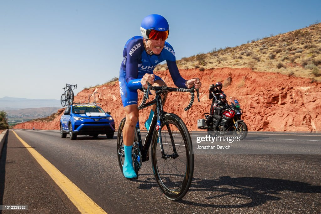Serghei Tvetcov of Romania and the UnitedHealthcare Pro Cycling Team rides during the prologue on August 6, 2018 in St. George, Utah.
