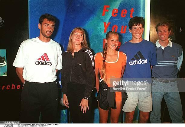 Sergi Bruguera Steffi Graf Anna Kournikova Tim Henman Stephan Edberg at RolandGarros 1997 Tournament