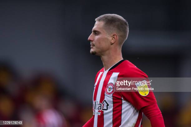 Sergi Canós of Brentford during the Sky Bet Championship match between Brentford and Coventry City at Brentford Community Stadium on October 17, 2020...