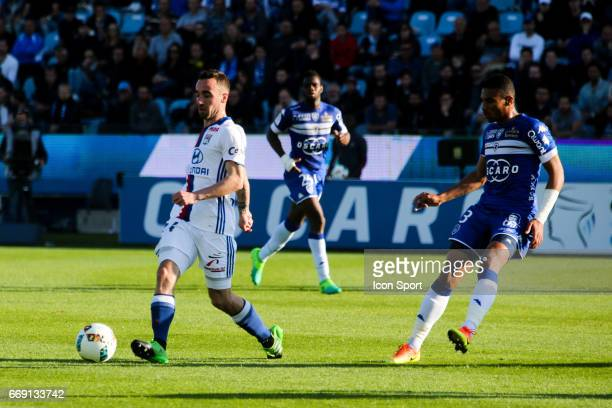 Sergi Darder of Lyon during the Ligue 1 match between SC Bastia and Olympique Lyonnais Lyon at Stade Armand Cesari on April 16 2017 in Bastia France