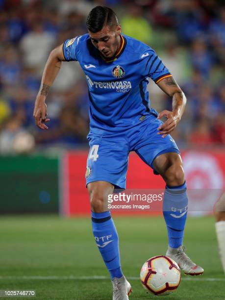 Sergi Guardiola of Getafe during the La Liga Santander match between Getafe v Real Valladolid at the Coliseum Alfonso Perez on August 31 2018 in...