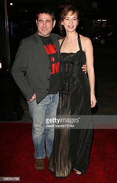 Sergi Lopez and Ariadna Gil during Pan's Labyrinth Los Angeles Screening Arrivals at Egyptian Theater in Hollywood California United States