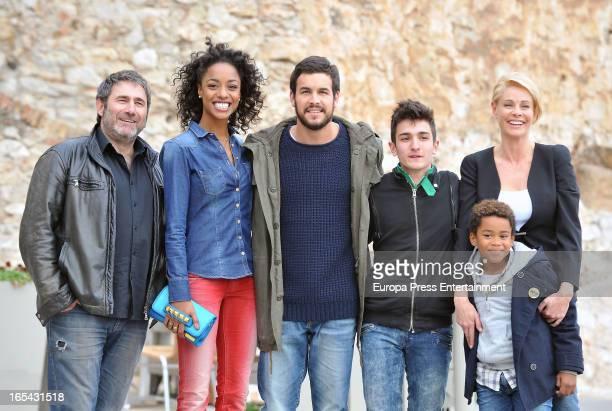 Sergi Lopez Ella Kweku Mario Casas Mikel Iglesias Belen Rueda and Larsson do Amaral are seen on the set of their latest film 'Ismael' on March 25...