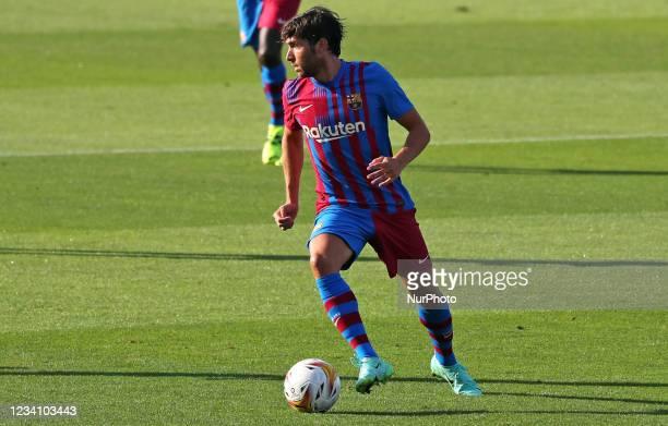 Sergi Roberto during the friendly match between FC Barcelona and Club Gimnastic de Tarragona, played at the Johan Cruyff Stadium on 21th July 2021,...