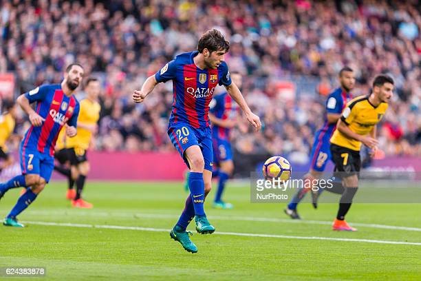 Sergi Roberto during the match between FC Barcelona vs Malaga CF for the round 12 of the Liga Santander played at Camp Nou Stadium on 19th November...