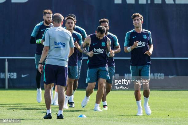 Sergi Roberto from Spain during the first FC Barcelona training session of the 2018/2019 La Liga pre season in Ciutat Esportiva Joan Gamper Barcelona...
