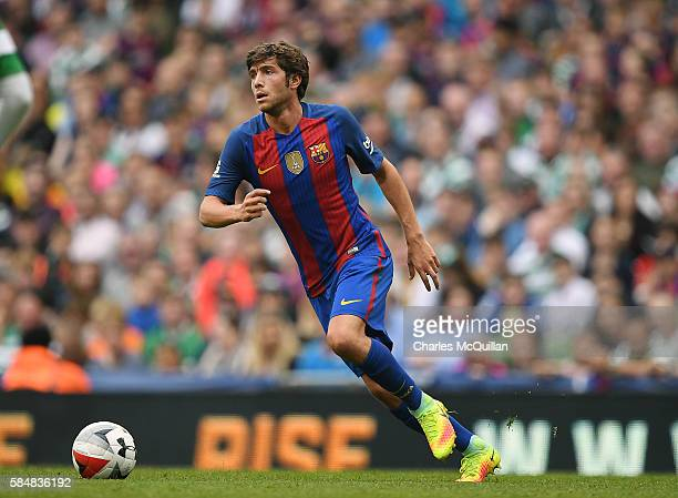 Sergi Roberto of Barcelona during the International Champions Cup series match between Barcelona and Celtic at Aviva Stadium on July 30 2016 in...
