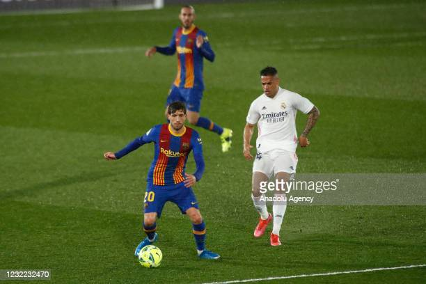 Sergi Roberto of FC Barcelona and Mariano Diaz of Real Madrid in action during the Spanish league, La Liga, football match played between Real Madrid...