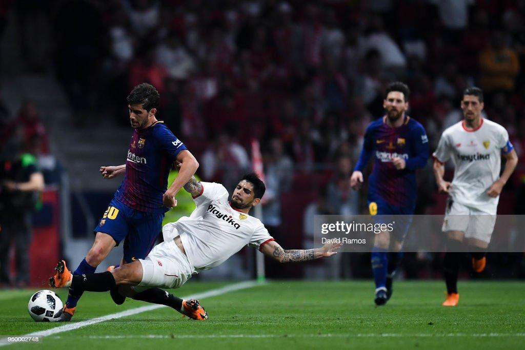 Barcelona v Sevilla - Spanish Copa del Rey Final : News Photo