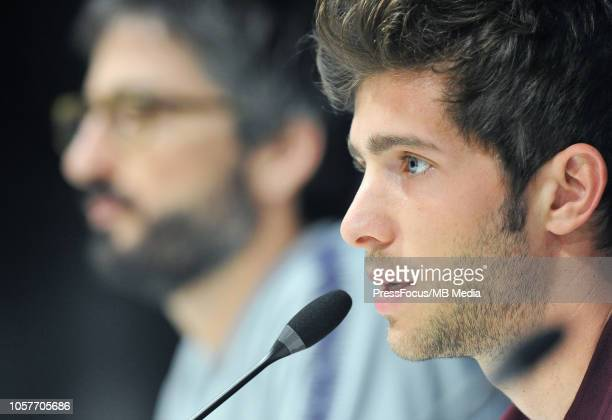 Sergi Roberto of FC Barcelona during the FC Barcelona press conference at San Siro Stadium on November 5 2018 in Milan Italy