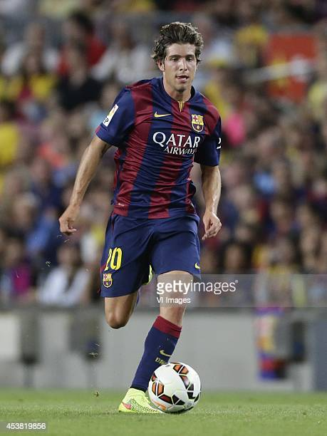 Sergi Roberto of FC Barcelona during the Joan Gamper Trophy match between FC Barcelona and Leon FC at Camp Nou on august 18 2014 in Barcelona Spain