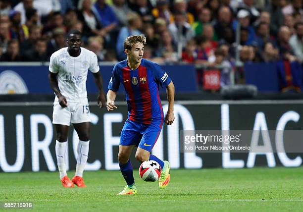 Sergi Samber of FC Barcelona during the PreSeason Friendly between Leicester City FC and FC Barcelona at Friends arena on August 3 2016 in Solna...
