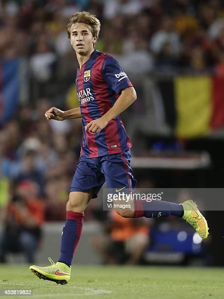 Sergi Samper of FC Barcelona during the Joan Gamper Trophy match between FC Barcelona and Leon FC at Camp Nou on august 18 2014 in Barcelona Spain
