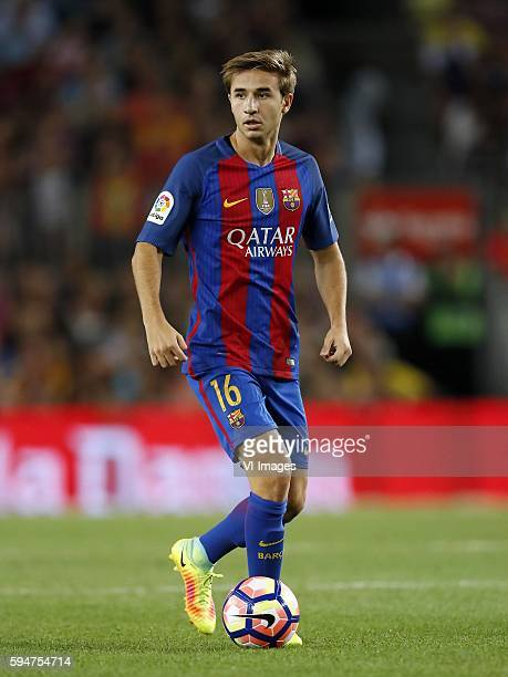 Sergi Samper of FC Barcelona during the Trofeu Joan Gamper match between FC Barcelona and UC Sampdoria on August 10 2016 at the Camp Nou stadium in...