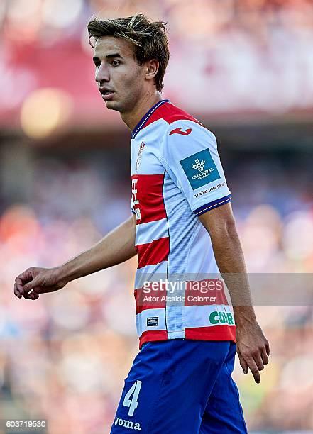 Sergi Samper of Granada CF in action during the match between Granada CF vs SD Eibar as part of La Liga at Nuevo los Carmenes Stadium on September 11...
