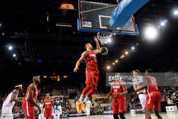 Sergii Gladyr of Monaco during the french Pro A match between Antibes Sharks and As Monaco on February 10 2017 in Antibes France