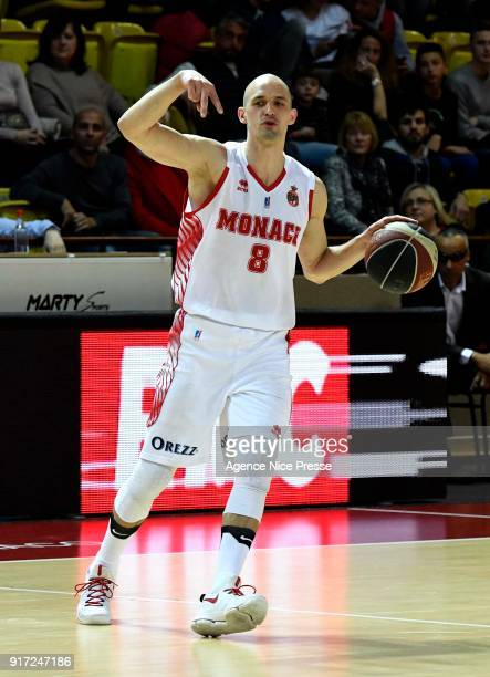 Sergii Gladyr of Monaco during the Pro A match between Monaco and Gravelines Dunkerque on February 11 2018 in Monaco Monaco