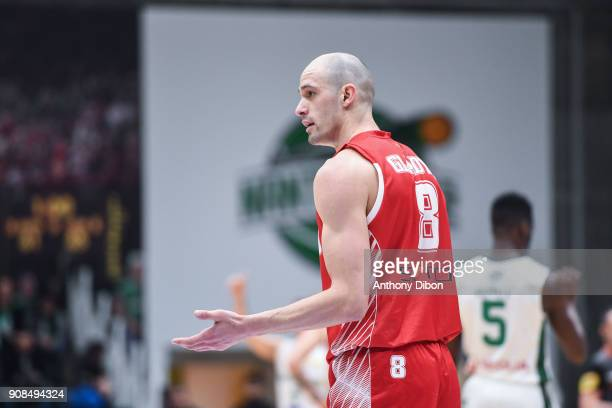 Sergii Gladyr of Monaco during the Pro A match between Nanterre 92 and Monaco on January 21 2018 in Nanterre France