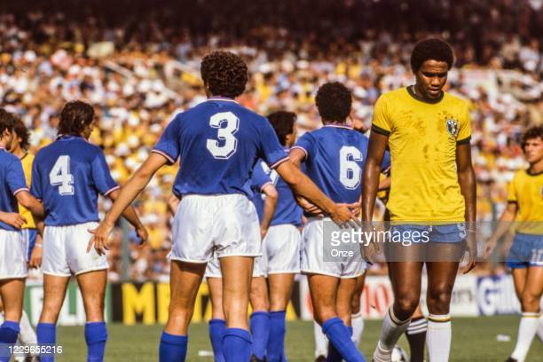 Serginho of Brazil during the second stage of the 1982 FIFA World Cup match between Italy and Brazil, at Sarria Stadium, Barcelona, Spain on 5 July...