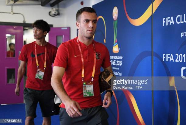 Serginho of Kashima Antlers arrives at the stadium prior to the FIFA Club World Cup UAE 2018 Second round match between Kashima Antlers and CD...