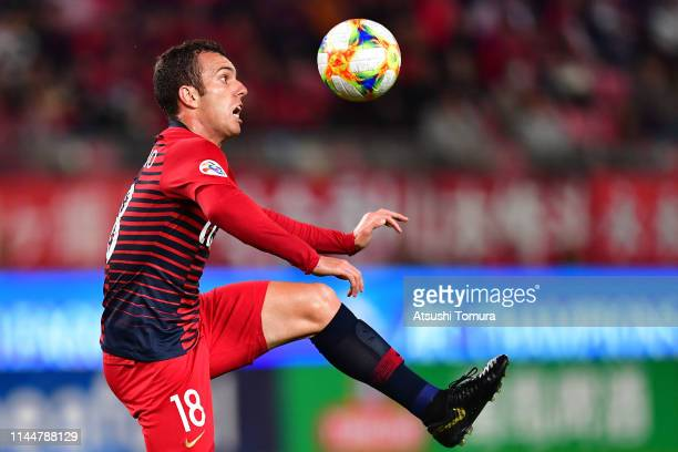 Serginho of Kashima Antlers controls the ball during the AFC Champions League Group E match between Kashima Antlers and Gyeongnam at Kashima Soccer...