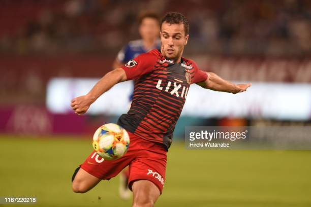 Serginho of Kashima Antlers in action during the J.League J1 match between Kashima Antlers and Yokohama F.Marinos at Kashima Soccer Stadium on August...