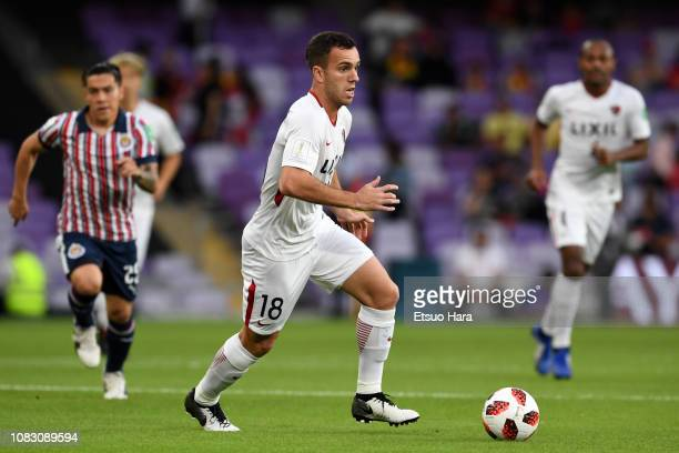 Serginho of Kashima Antlers in action during the match between Kashima Antlers and CD Guadalajara on December 15, 2018 in Al Ain, United Arab...