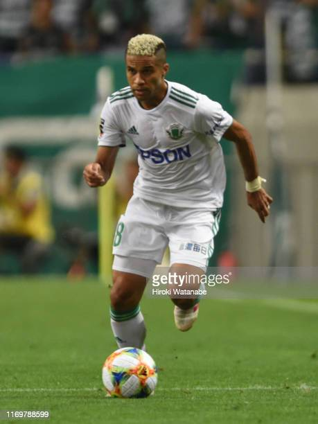 Serginho of Matsumoto Yamaga in action during the J.League J1 match between Urawa Red Diamonds and Matsumoto Yamaga at Saitama Stadium on August 23,...