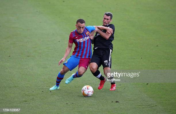 Sergino Dest and Del Campo during the friendly match between FC Barcelona and Club Gimnastic de Tarragona, played at the Johan Cruyff Stadium on 21th...