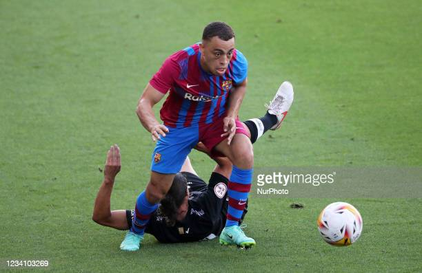 Sergino Dest during the friendly match between FC Barcelona and Club Gimnastic de Tarragona, played at the Johan Cruyff Stadium on 21th July 2021, in...