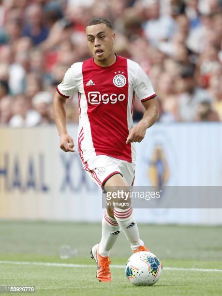 Sergino Dest of Ajax during the Johan Cruijff shield match between Ajax Amsterdam and PSV Eindhoven on July 27 2019 at the Johan Cruijff Arena in...