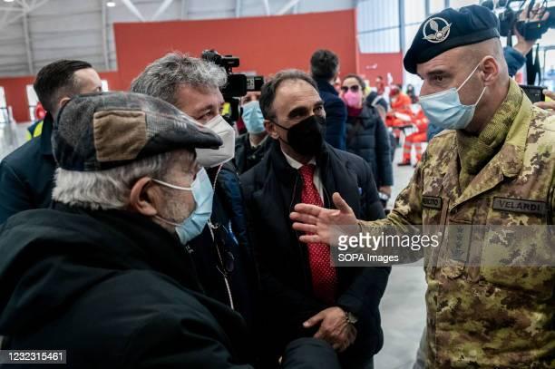Sergio Abramo , Mayor of Catanzaro, Nino Spirlì , Temporary Regional Governor, and Guido Longo , Special Commissioner for the Regional Healthcare,...
