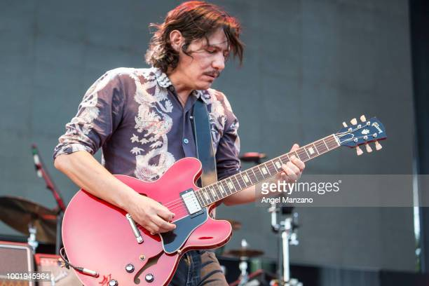 Sergio Acosta from Zoe performs in concert at Las Noches del Botanico festival on July 19 2018 in Madrid Spain