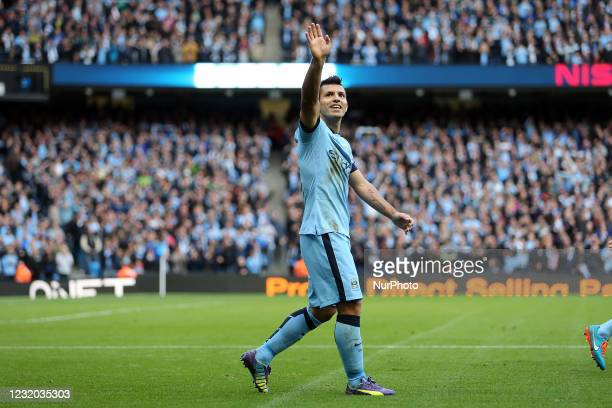 Sergio Aguero of Manchester City during Manchester City v Manchester United Barclays Premier League. 2/11/2014 Sergio Agero of Manchester City...