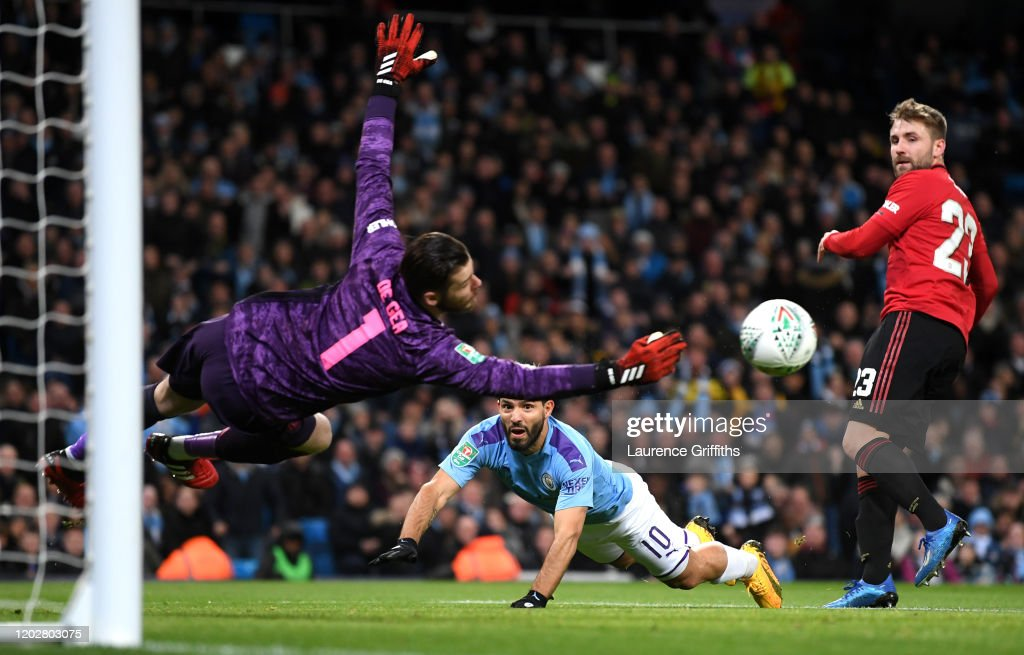 Manchester City v Manchester United - Carabao Cup: Semi Final : News Photo