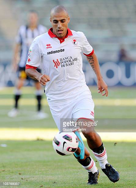 Sergio Almiron of Bari in action during the Serie A match between Bari and Juventus at Stadio San Nicola on August 29 2010 in Bari Italy