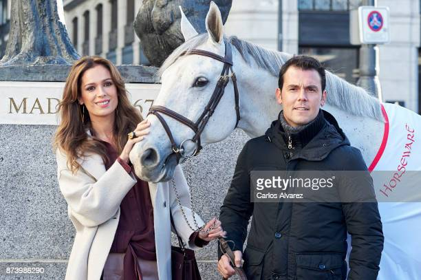 Sergio Alvarez Moya and model Mar Saura present Madrid Horse Week 2017 on November 14 2017 in Madrid Spain