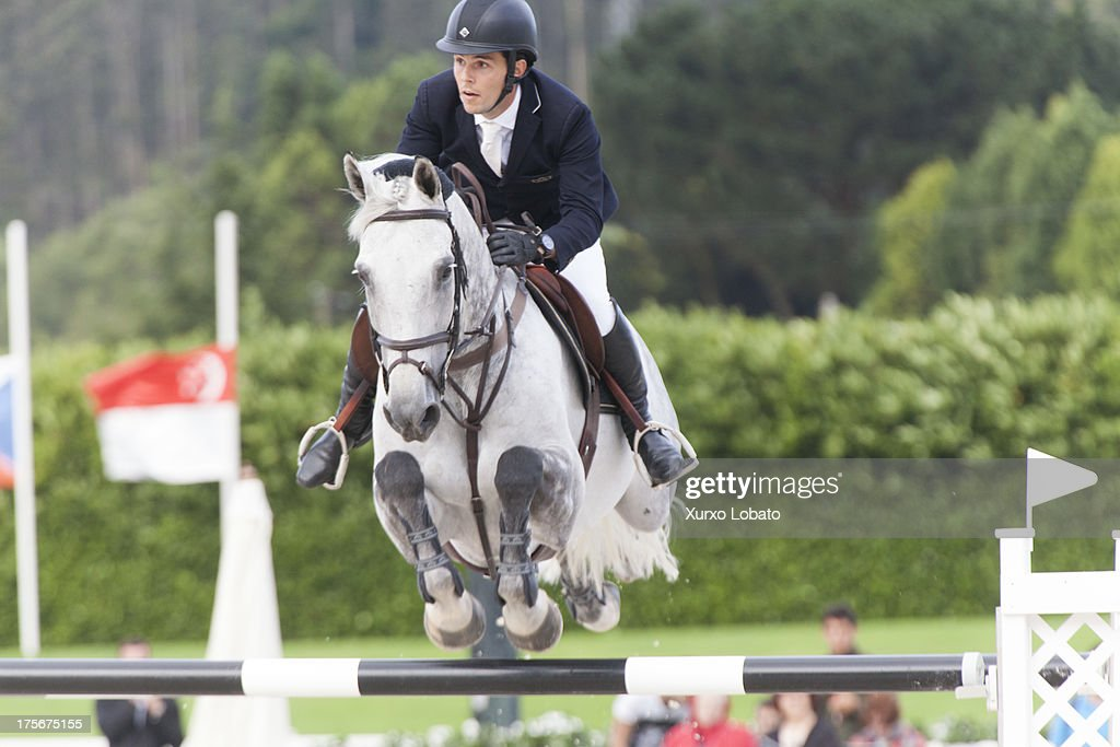 Sergio Alvarez Moya, husband of Marta Ortega, attends CSI Casas Novas Horse Jumping Competition 2013 near Arteixo on July 27, 2013 in A Coruna, Spain.